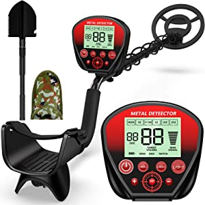 X-R-SPORT Metal Detector Waterproof, Metal detectors for Kids & Adults, Gold Detector Professional,High Accuracy Adjustable with Pinpoint & Disc & All Metal Mode, with Metal Detecting Shovel