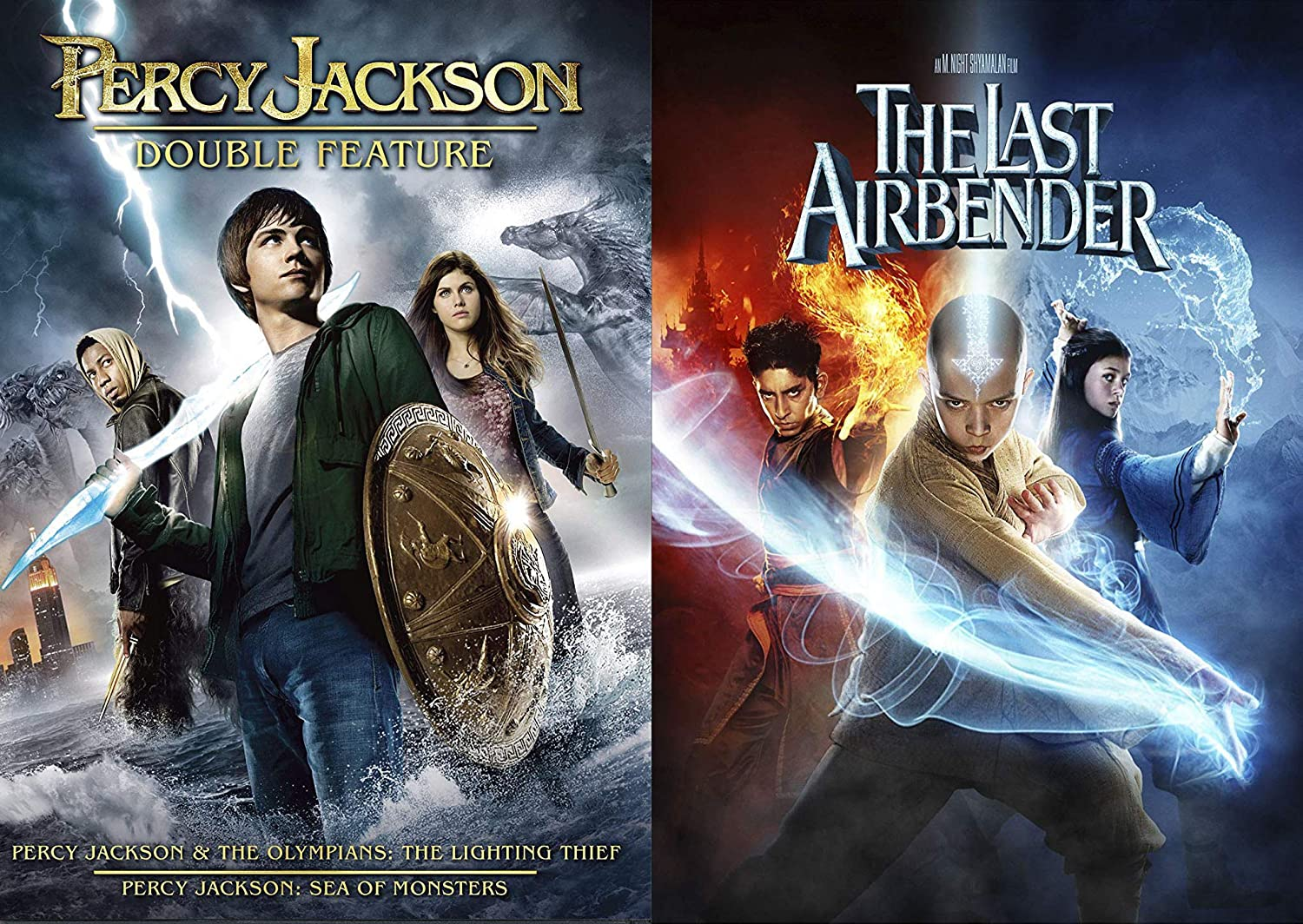 Adventure Comes In Waves- Young Adult Fantasy Super Pack 3-Movie Bundle - Percy Jackson & The Olympians: The Lightning Thief and Sea of Monsters & The Last Airbender 3-DVD Set: Amazon.es: Cine