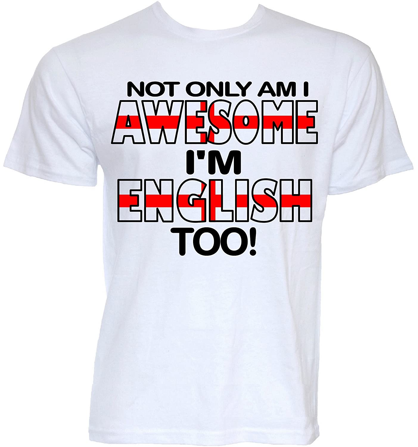 09b9329c Beat Tees Clothing Mens Funny Novelty Awesome England English Flag Joke  Slogan Gifts T-Shirts: Amazon.co.uk: Clothing