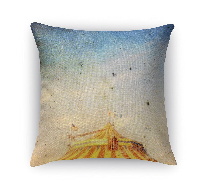 BOBAVC088DI24 - Heartland Collection Size: 24X24X6 - KAVKA Designs The Big Top Accent Pillow, Orange//Yellow//Blue