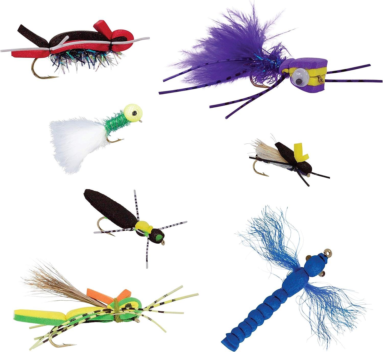 6 Fly Fishing Floating Foam Poppers Flies Spiders #10 Hooks Panfish Bluegill