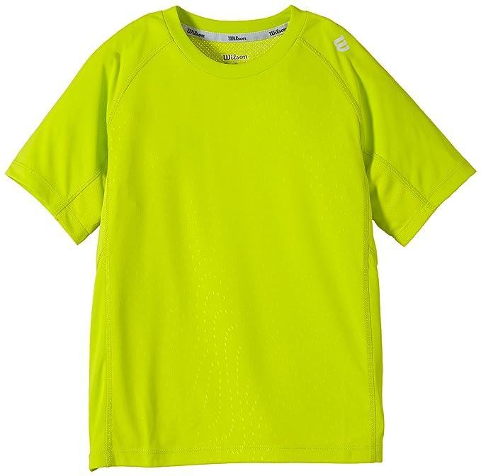 sale retailer 64e34 874e4 Wilson Boys 'Tennis Clothing B SP Emboss Crew, Boys ...