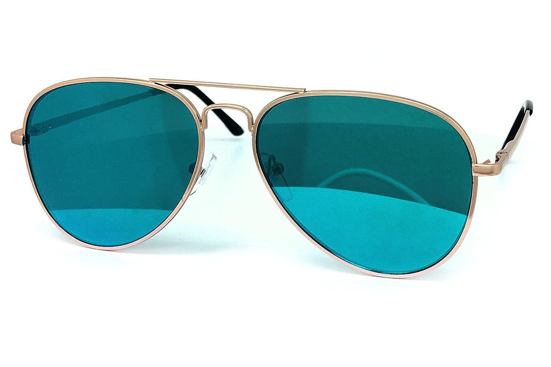 O2 Eyewear 450 Premium Oversized Flat Aviator Mirrored Sunglass Womens Mens