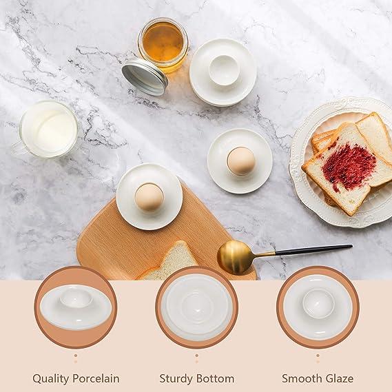 Coquetier blanc empilable eierständer avec armoire 8er Set Oeufs Tasse Petit Déjeuner