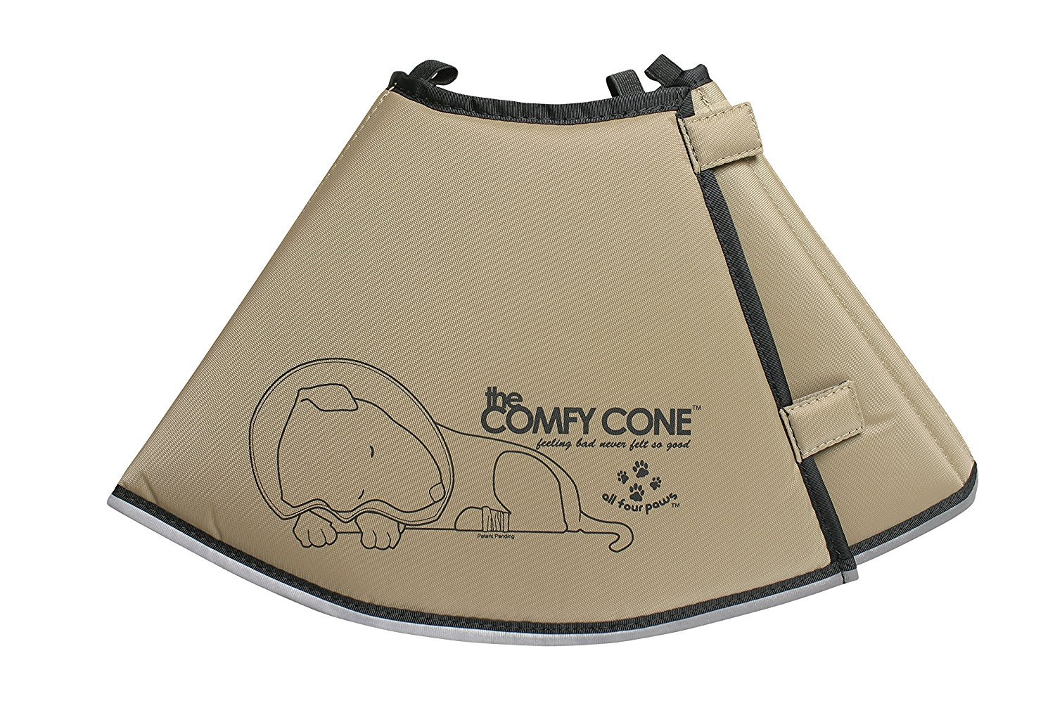 All Four Paws The Comfy Cone Pet Recovery Collar Tan MEDIUM-Extra Long 30cm