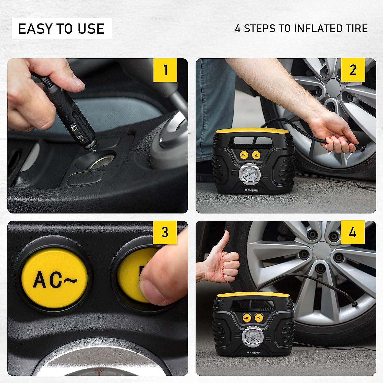 Kensun Portable Air Compressor Pump for Tire Inflator
