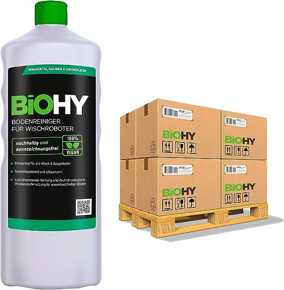 BiOHY Limpiador pisos para robots limpiadores (480 botellas de 1 litro) | Concentrado para todos robot aspirador con función húmeda - sostenible y ecológico (Reiniger für Wischroboter): Amazon.es: Salud y cuidado personal
