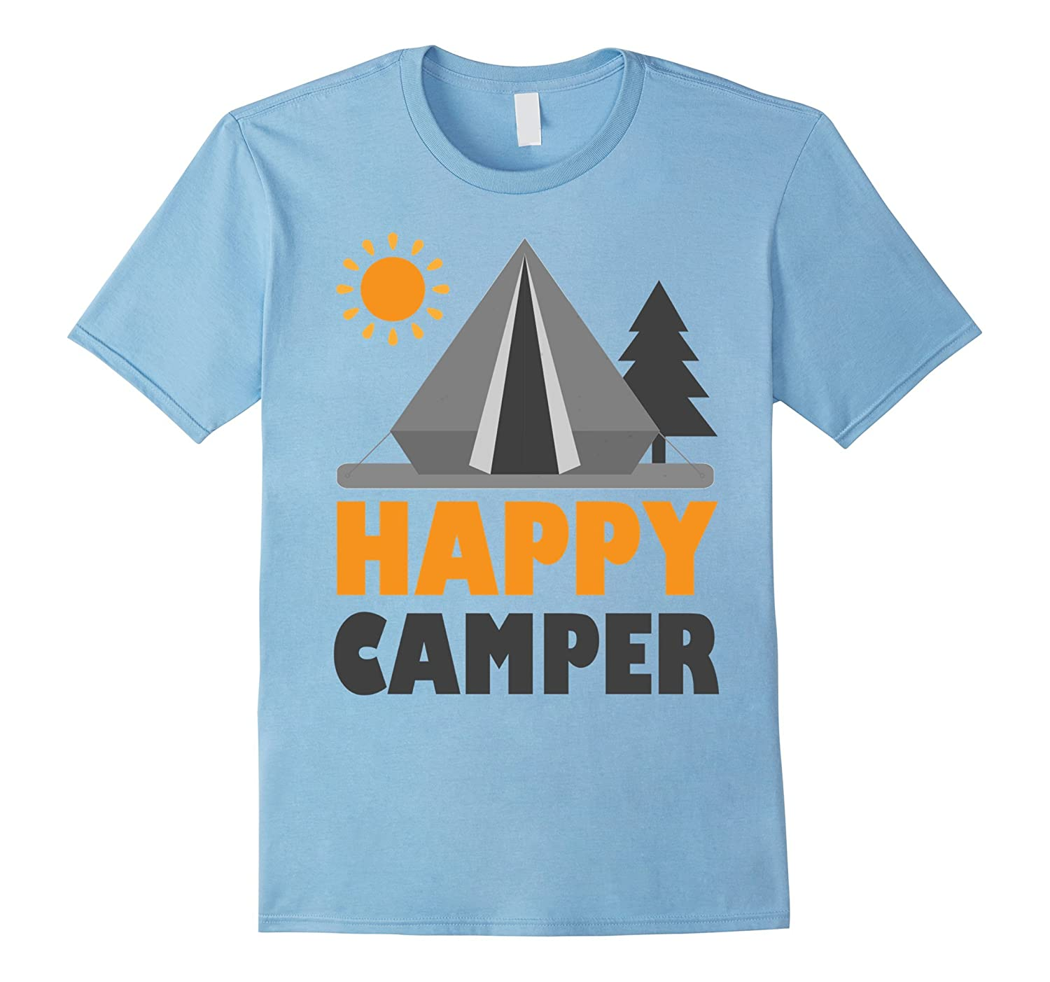 Camping Shirt Happy Camper T-Shirt Unique Camper T-Shirt-PL