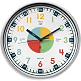 Teaching Clock with Silent Movement   Educational Clock that Makes Kid's Learning Time Faster + Fun. Quiet Child's Wall Clock Perfect for Parents and Teachers, Kids Bedroom or Classroom.