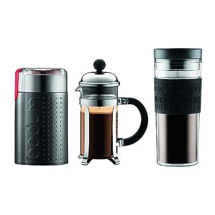 fb328d30e48 Bodum Chambord Set, Prensa Francesa para Café, de 3 tazas, Molino eléctrico  de