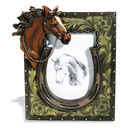 Marco de fotos de caballo y herradura: Amazon.es: Hogar
