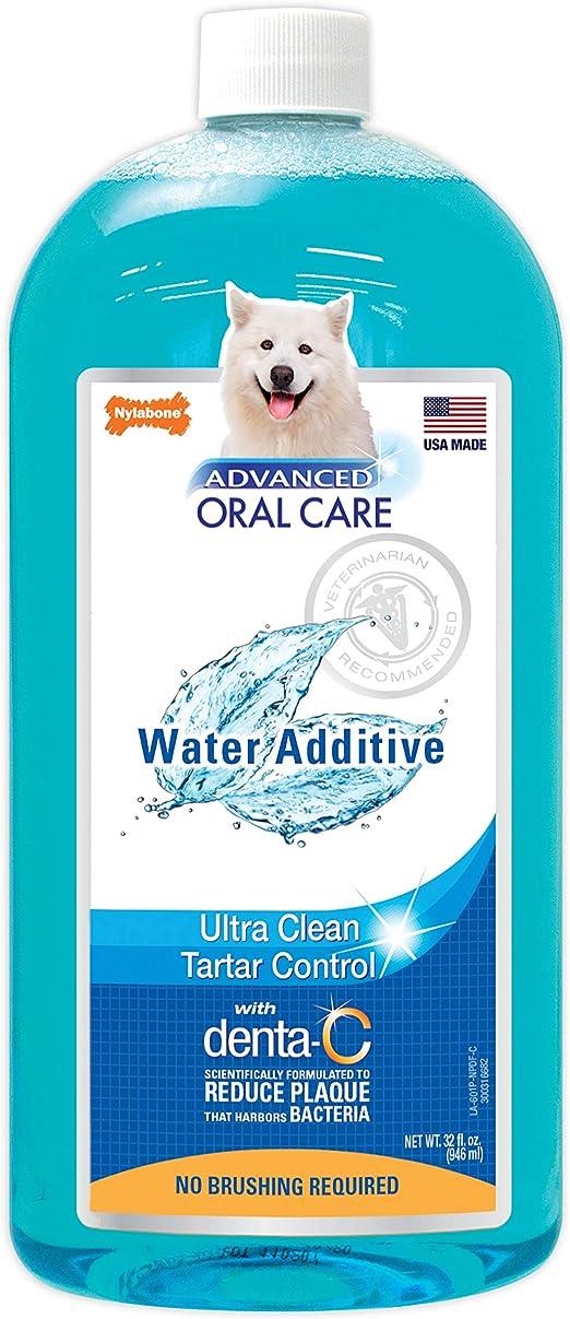 Nylabone Advanced Oral Care Liquid Tartar Remover Dog Breath Freshener Water Additive for Dogs, Original Flavor, 32 oz.