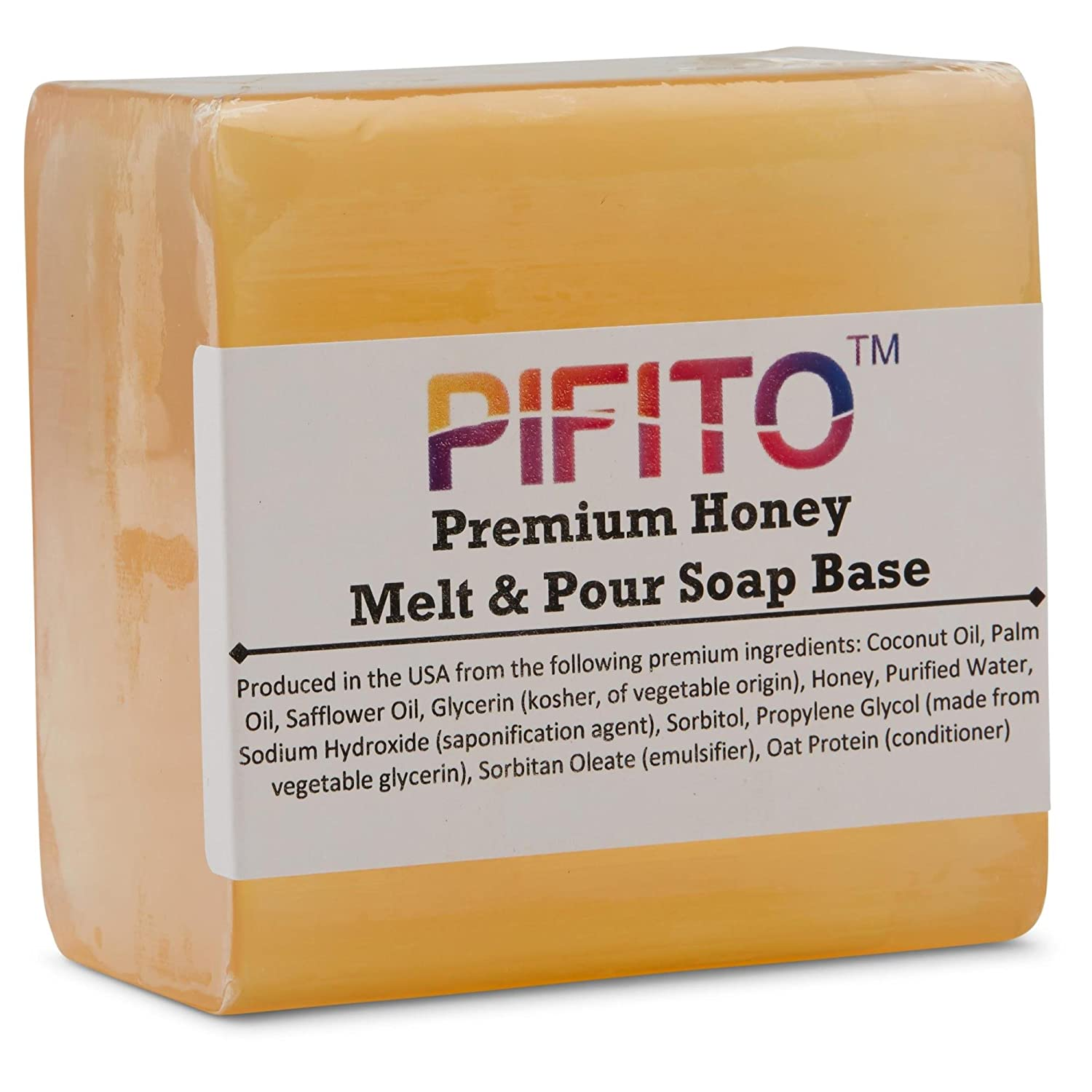 Pifito Premium Honey Melt and Pour Soap Base (3 lb) - Natural Vegetable Glycerin Soap Base - Excellent Hand Soap Making Supplies