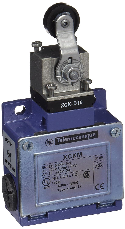 Schneider Electric XCKM115 ex OsiSwitch Métal Interrupteur de position format standard, levier à galet thermoplastique, tête rotative, 1NC+1NO, brusque, Pg11 levier à galet thermoplastique tête rotative