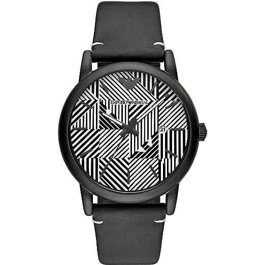 40a942e3d731 Emporio Armani Reloj Analógico para Hombre de Cuarzo con Correa en Cuero  AR11136  Amazon.es  Relojes