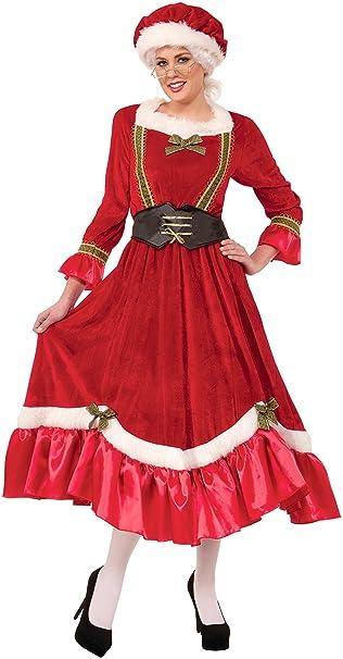 Amazon.com: Vestido tradicional para mujer Sra. Claus ...
