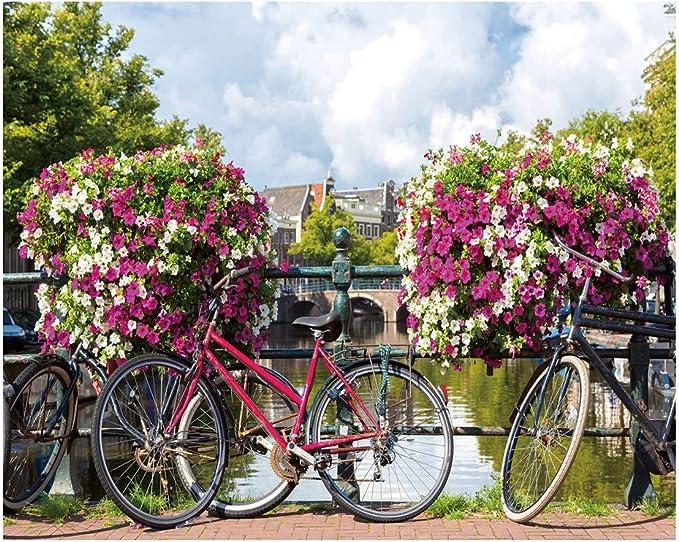 Cuadro de Bicicleta provenzal Lila de Lienzo para decoración de ...