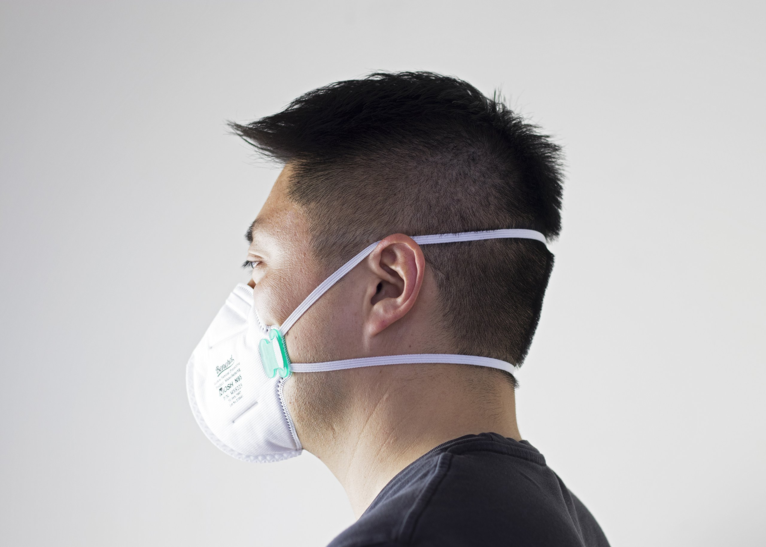 Disposable Dust Masks NIOSH N95 Approved with Breathing Valve,SafetyPlus, Pack of 10 6