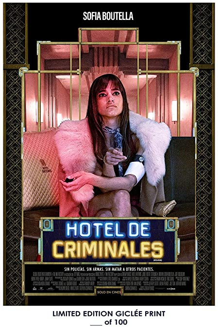 RARE POSTER Sofia Boutella HOTEL ARTEMIS Hotel De Criminales 2018 Spanish REPRINT D