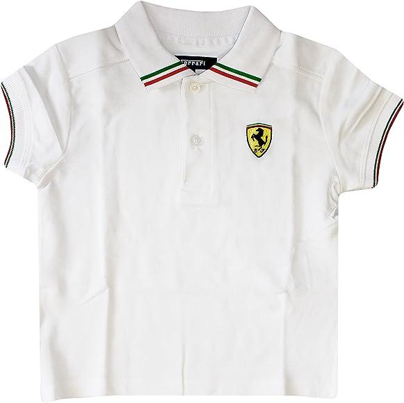 87b34560f Amazon.com: Ferrari Kids Italia Polo Shirt (3 Year, White): Clothing