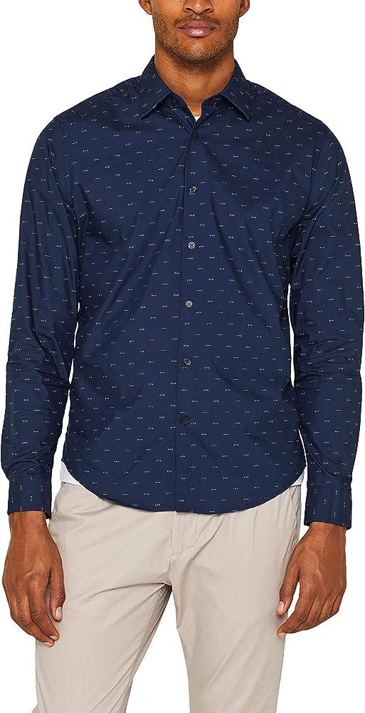 Esprit 049ee2f016 Camisa, Azul (Navy 400), Small para Hombre: Amazon.es: Ropa y accesorios