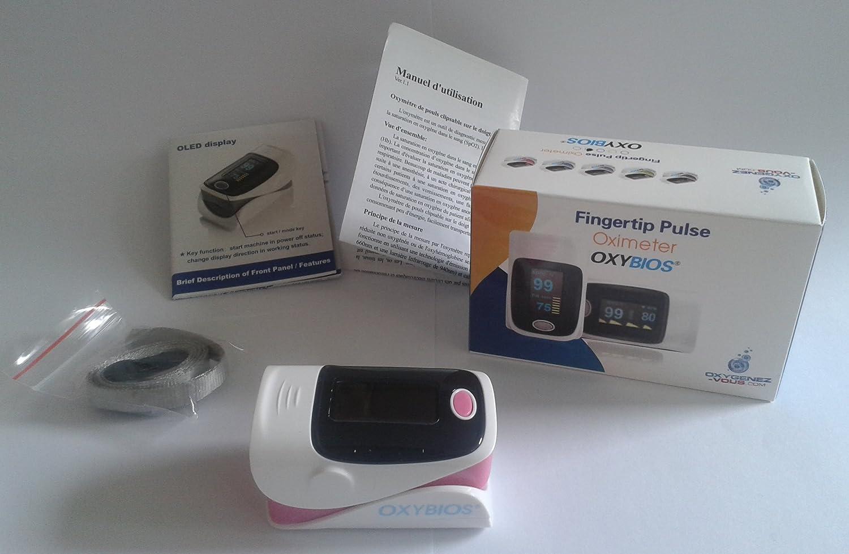 Ox/ímetro del pulso del dedo rosa Monitor de Ritmo Cardiaco Saturaci/ón de Ox/ígeno SPO2