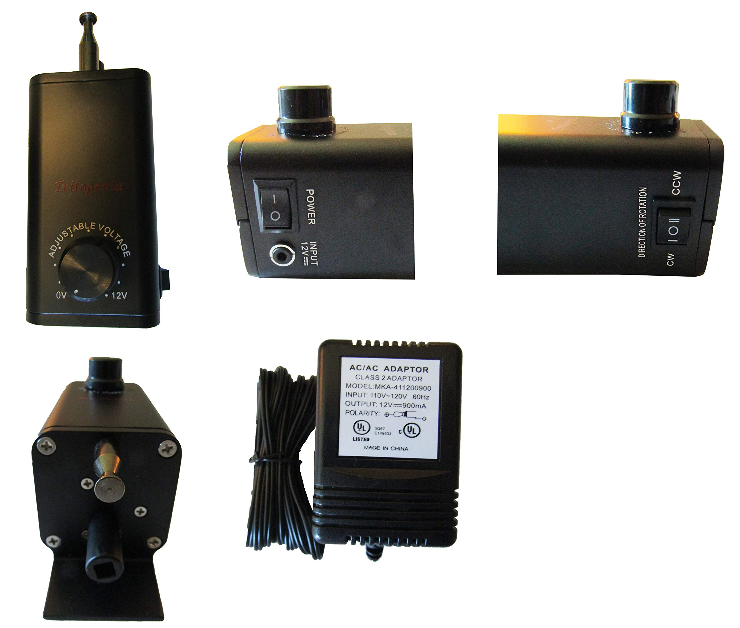 Tritogenia New Variable Speed Rotisserie Motor 0 to 65 RPM for Cyprus Grill - Without Battery Cable