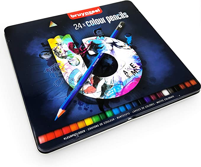 Kids colour pencils hexagonal Pack of 24 BRUYNZEEL