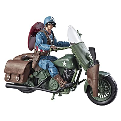 Marvels Legends Series Captain America with Motorcycle: Toys & Games