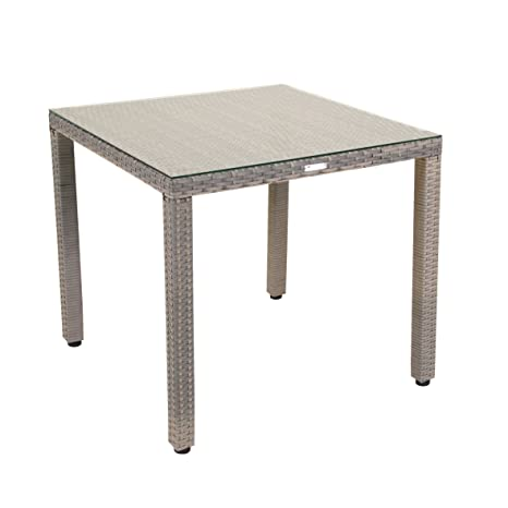 greemotion Table de Jardin Manila 80 x 80 x 74 cm, Table de ...