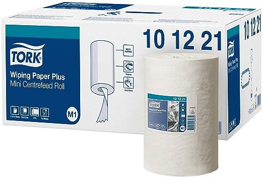 29 opinioni per Tork 101221 Carta Plus per asciugatura M1 mini (rotolo ad estrazione centrale),