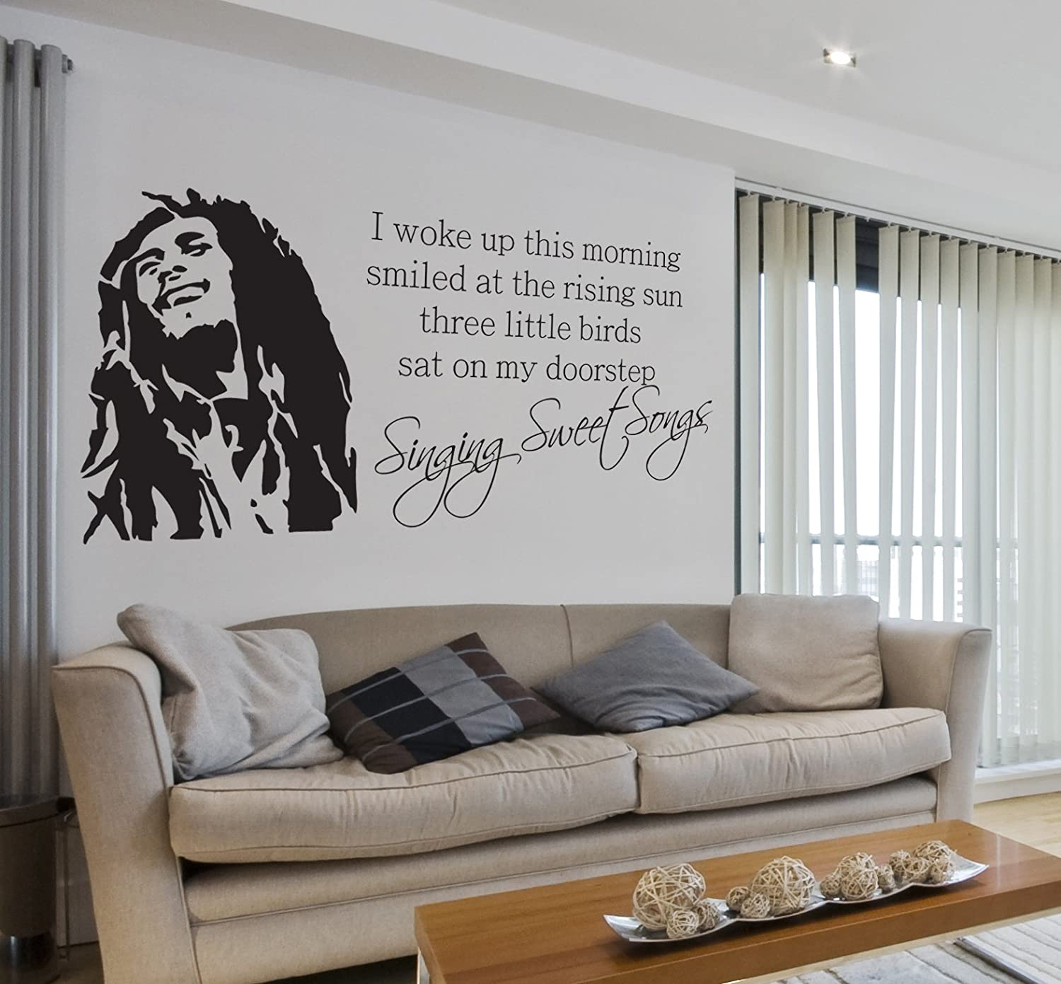 254b8340f3d17 Bob Marley - Wall Decal Art Sticker lounge living room bedroom ...