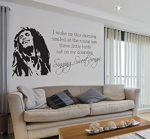 VC Designs Ltd TM Bob Marley Singing Sweet Songs Lyrics Music Quote Lounge Living