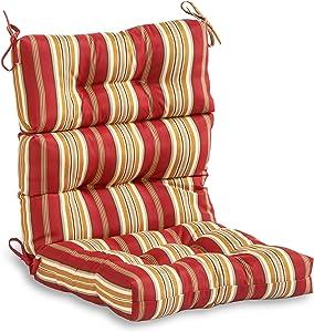 South Pine Porch AM4809-ROMA Roma Stripe Outdoor High Back Chair Cushion