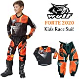 RED : SHIRT 11-13 Years Kids Race Suit WULFSPORT FORTE 2020 Motorcycle Motorbike Quad Pit Bike ATV BMX Childrens Junior Motocross Red Jersey and Trouser , PANT: 20 waist