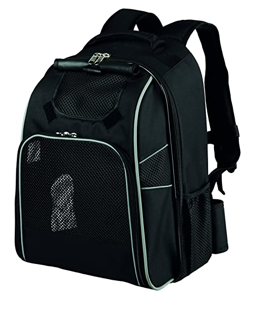 Trixie William perro mochila, negro, 33 x 23 x 43 cm): Amazon.es: Productos para mascotas