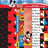 Sandylion SCP-5401 Disney Paper Sheets, Mickey and Friends, 12 by 12-Inch, 12-Pack