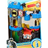 DC Super Friends Imaginext Wayne Manor Batcave Includes Batcycle, Flight Trainer, Batman, Hidden Jail, Light Up Bat…