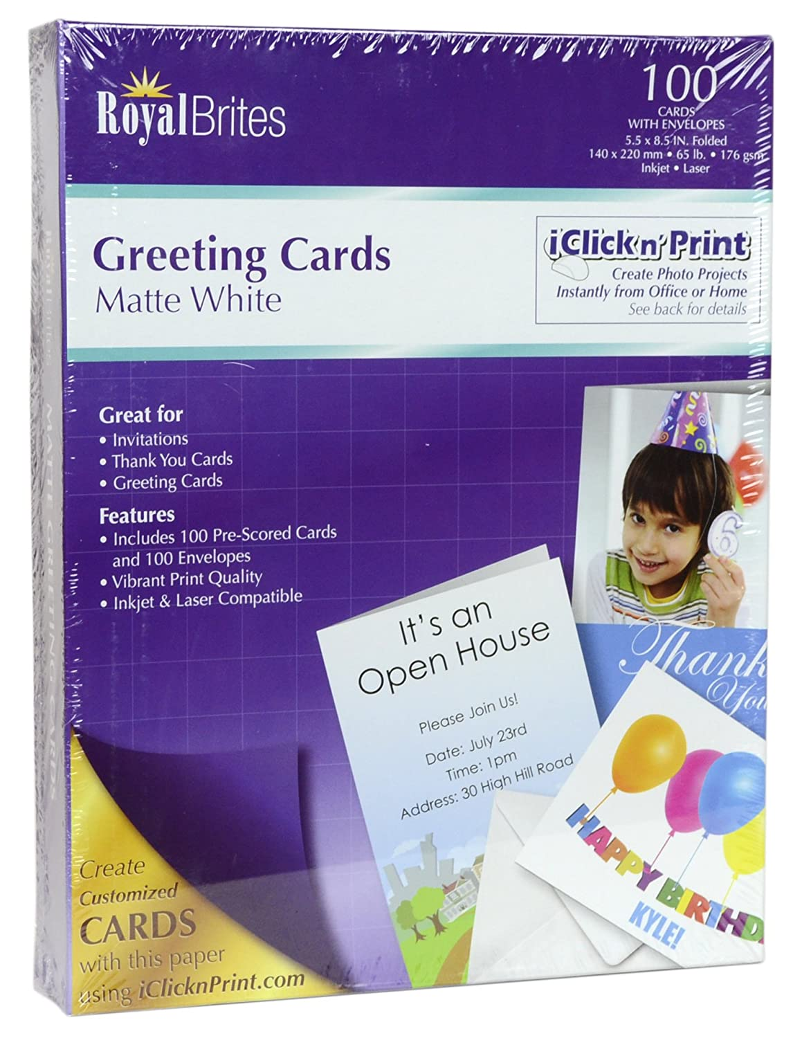 Amazon Royal Brites Blank Matte Greeting Cards With Envelopes