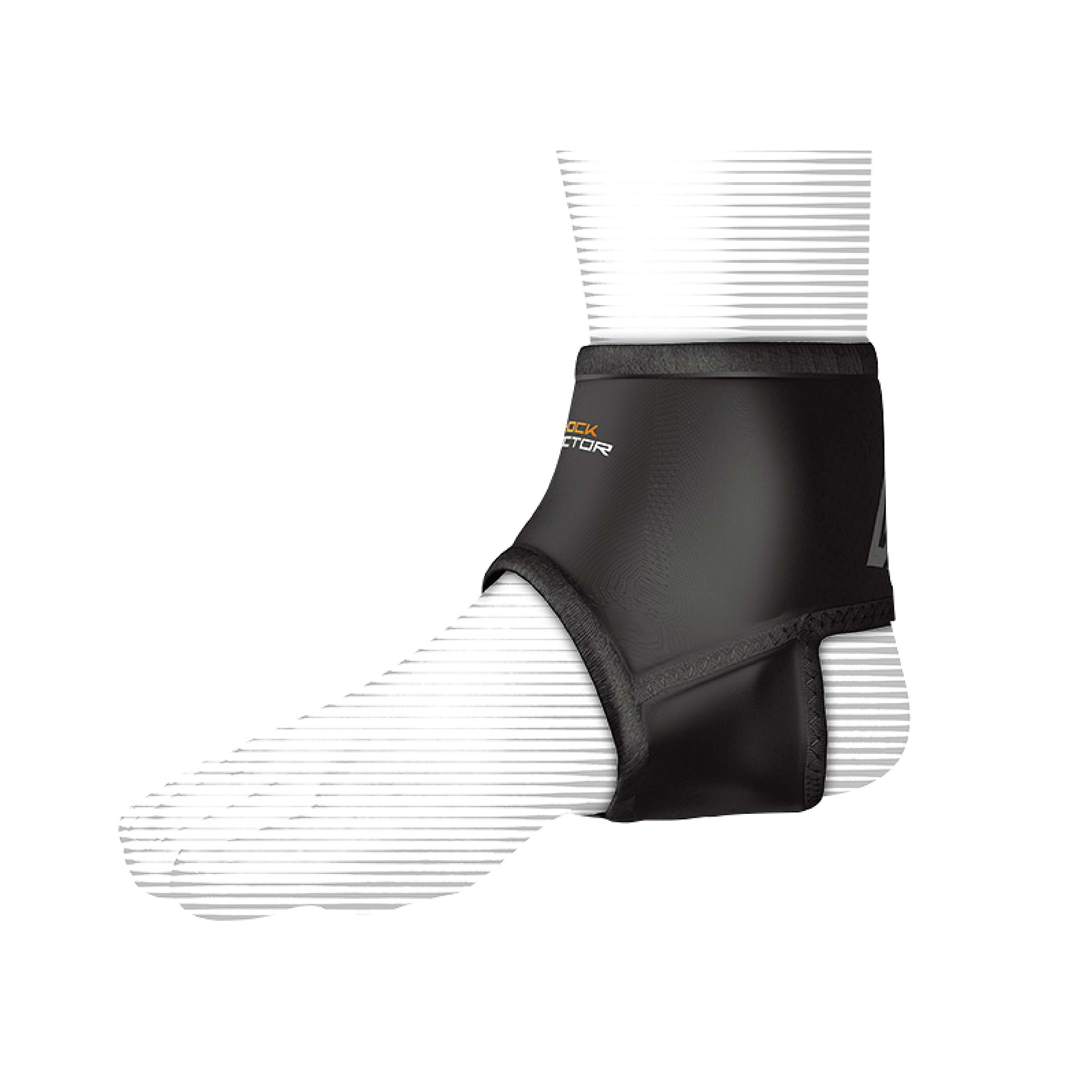 Shock Doctor Ankle Sleeve with Compression Fit (Black, Large)