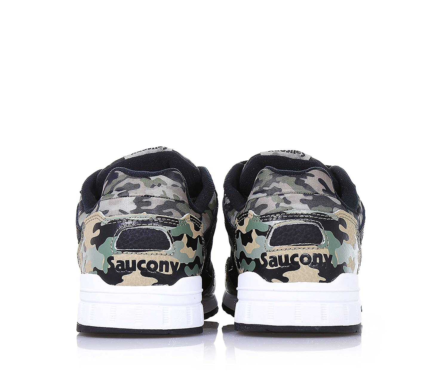 a04a2baa219e SAUCONY - Camouflage and black lace-up sports shoe