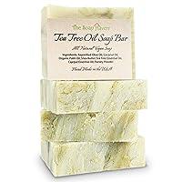 TEA TREE SOAP BAR - 4 All Natural Antifungal Tea Tree Oil Soap Bars for Face, Hand...