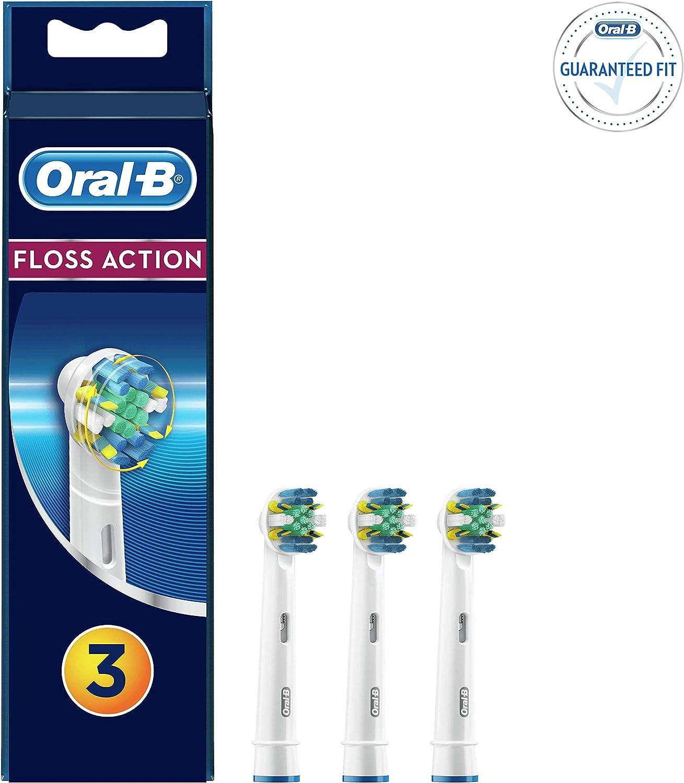 Oral-B FlossAction - Cabezal de Recambio, Set de 3 Recambios para ...