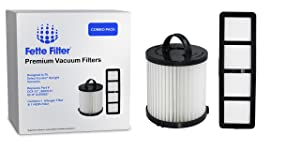 Fette Filter – Vacuum Filter Set Compatible with Eureka Airspeed AS1000 Series Upright Vacuum Cleaners for DCF-21 & EF-6. Compare to Part # 67821, 68931, 69963 & 830911 Eureka Airspeed (Combo Pack)
