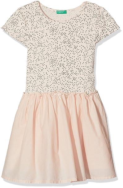 1fe8af2de3 United Colors of Benetton Dress Vestito Bambina: Amazon.it ...