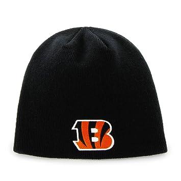 Cincinnati Bengals Black Skull Cap - NFL Cuffless Beanie Knit Hat ... 3a68b38c2cdb