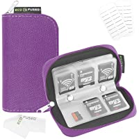Eco-Fused Memory Card Carrying Case with Cleaning Cloth - Purple