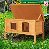The Hutch Company External Microchip Outdoor Cat House Kennel with One Way Privacy Window (Standard)