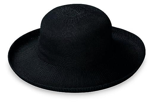 Wallaroo Hat Company Women s Petite Victoria Sun Hat – Black – Packable 7970ee522f2