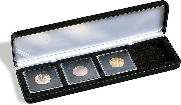 noir Ecrin Numismatique NOBILE pour 4 QUADRUM 50x50 mm